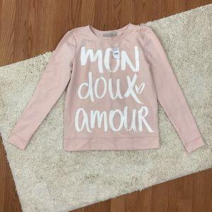 LOFT Ann Taylor French Pink Sweatshirt NWT